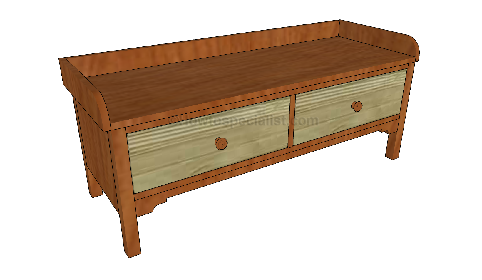 Entryway Bench Plans Howtospecialist How To Build Step By Step Diy Plans