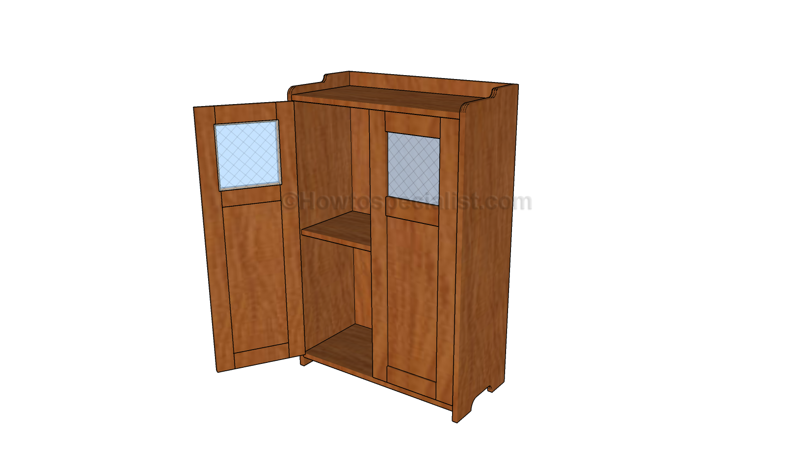 Wood storage cabinets with doors plans for Wood cabinets