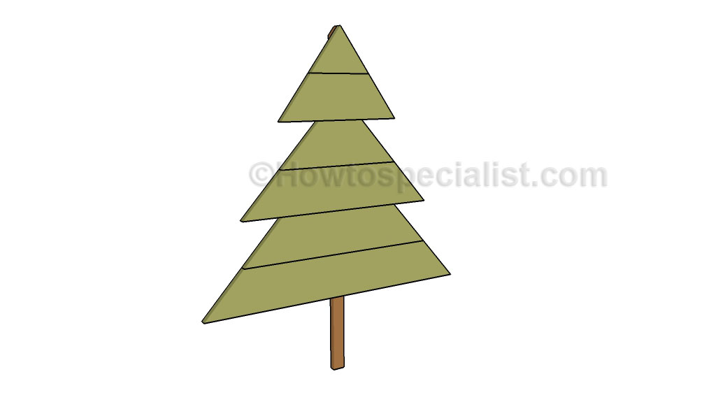 Wooden Christmas Tree Plans Howtospecialist How To Build Step By Step Diy Plans