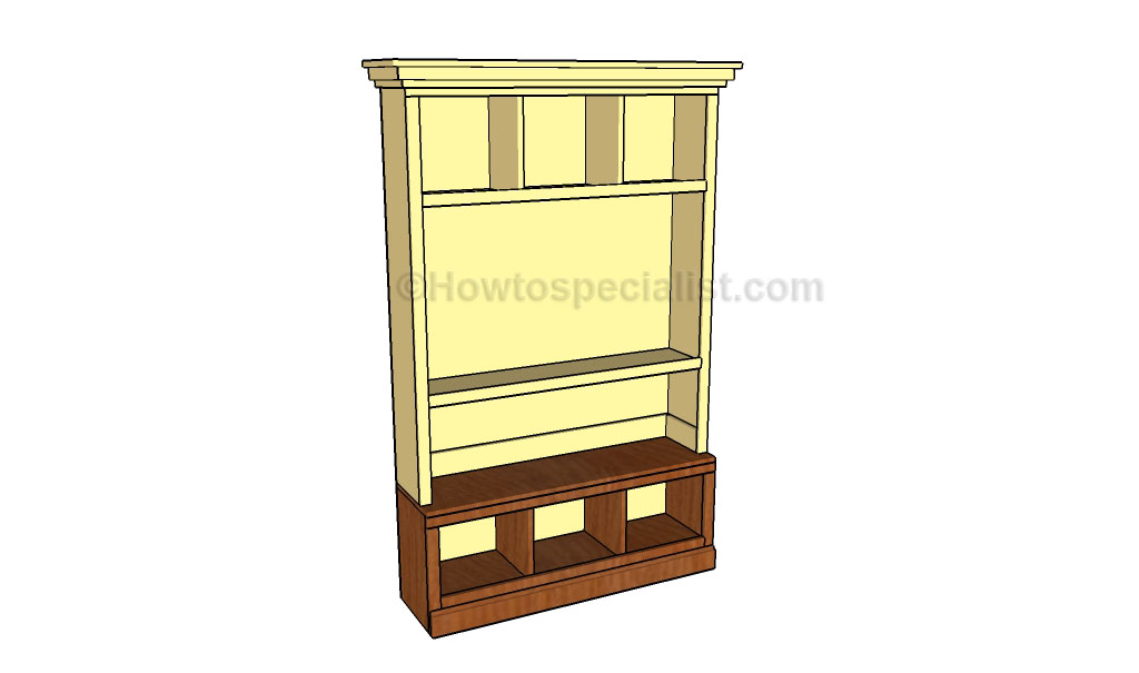 Building the hutch of the entertainment center