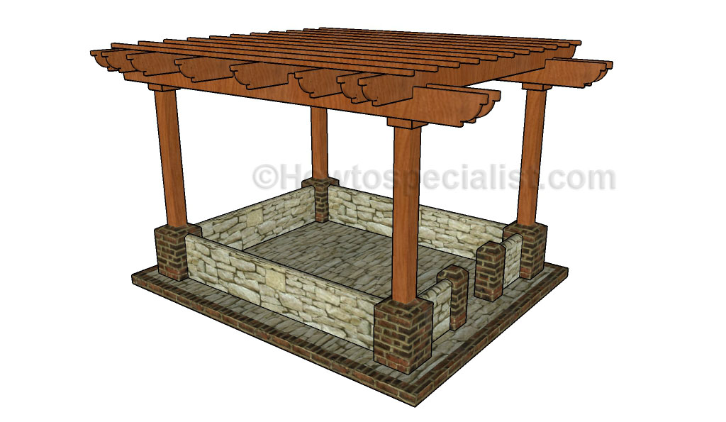 How to build a pergola on a patio howtospecialist how for Plans for arbors