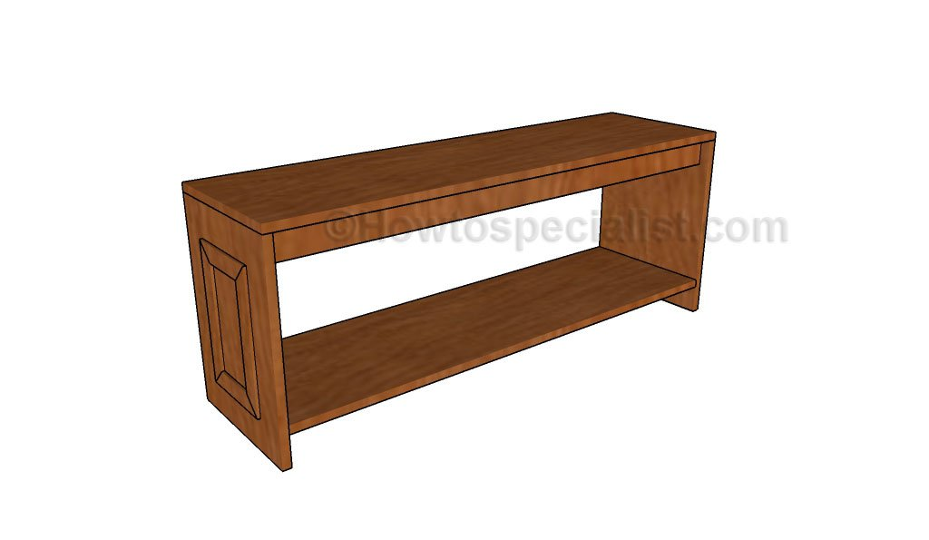 Build Foyer Bench : Hall bench plans howtospecialist how to build step by