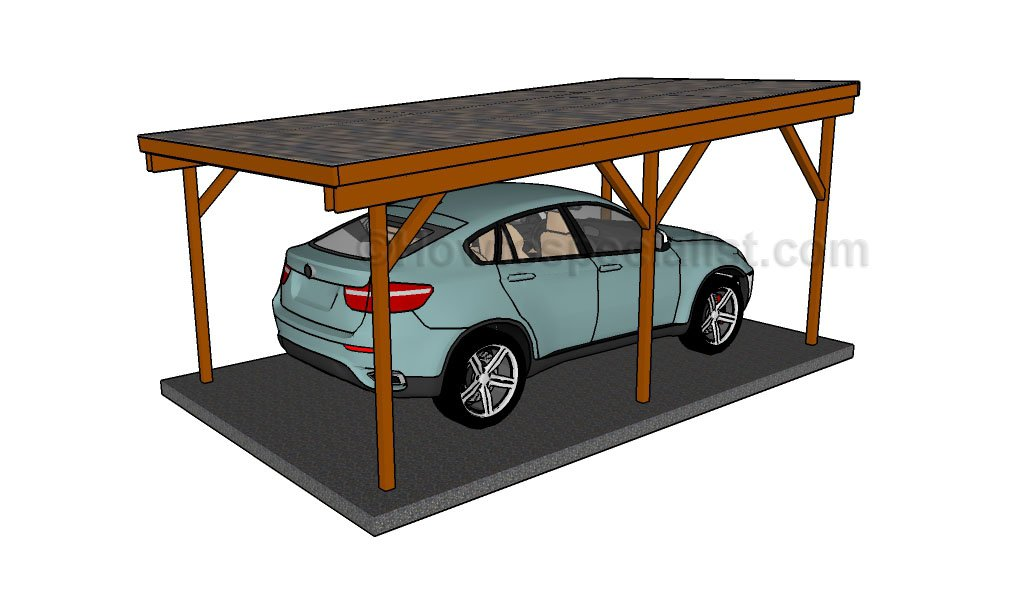 Diy Carport Plans : How to build a double carport howtospecialist