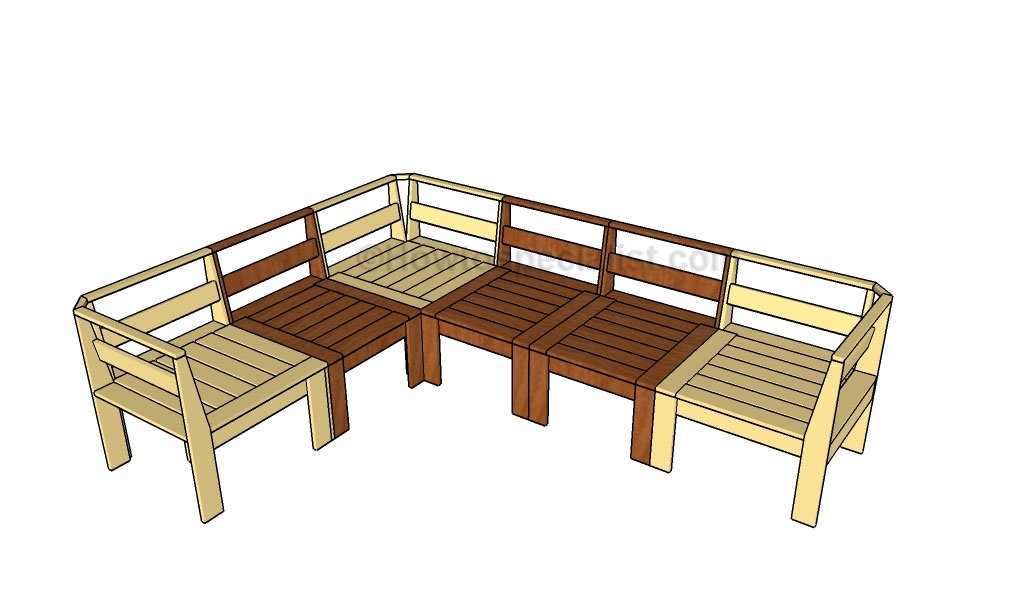 Corner outdoor sectional plans
