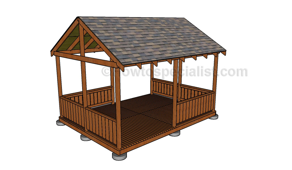 Gazebo Railing Plans Howtospecialist How To Build