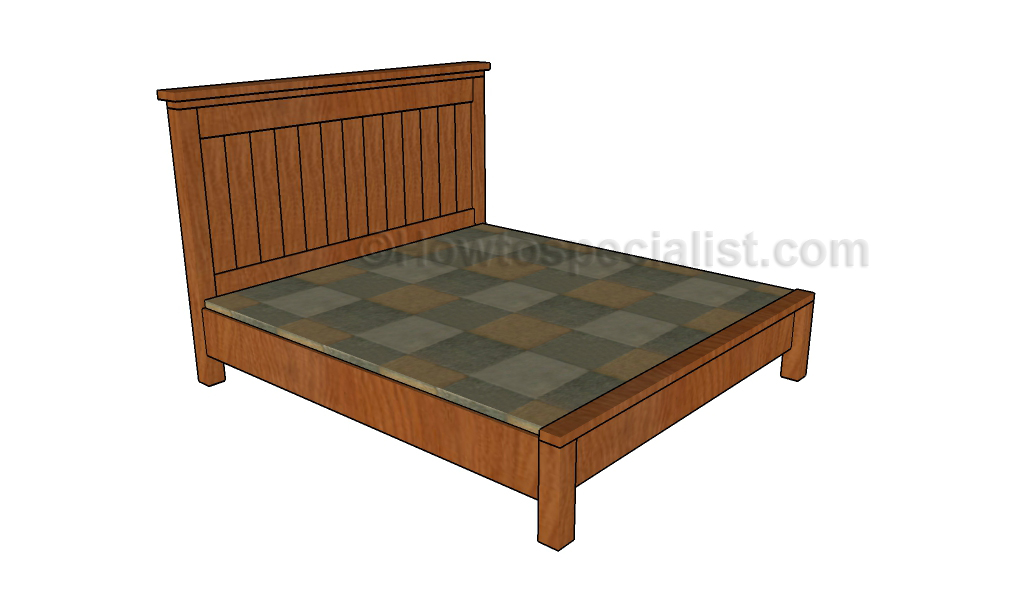 Farmhouse bed plans howtospecialist how to build step for Farmhouse bed plans