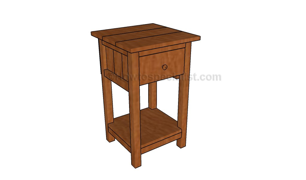 Farmhouse nightstand plans howtospecialist how to for Nightstand plans