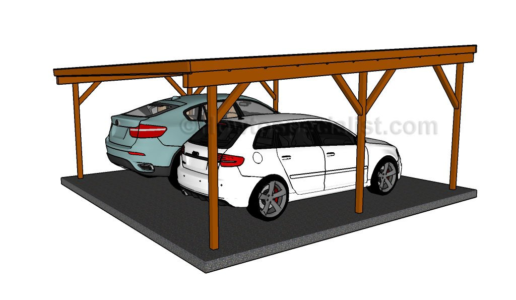 Double Carport Plans : How to build a double carport howtospecialist