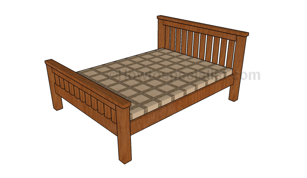 Full Size Bed Frame Plans Howtospecialist How To Build