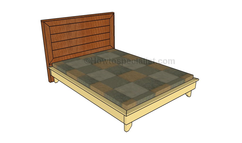 Platform Bed Frames Plans full size platform bed plans | howtospecialist - how to build