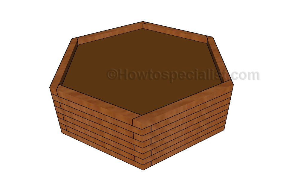 Hexagonal planter plans