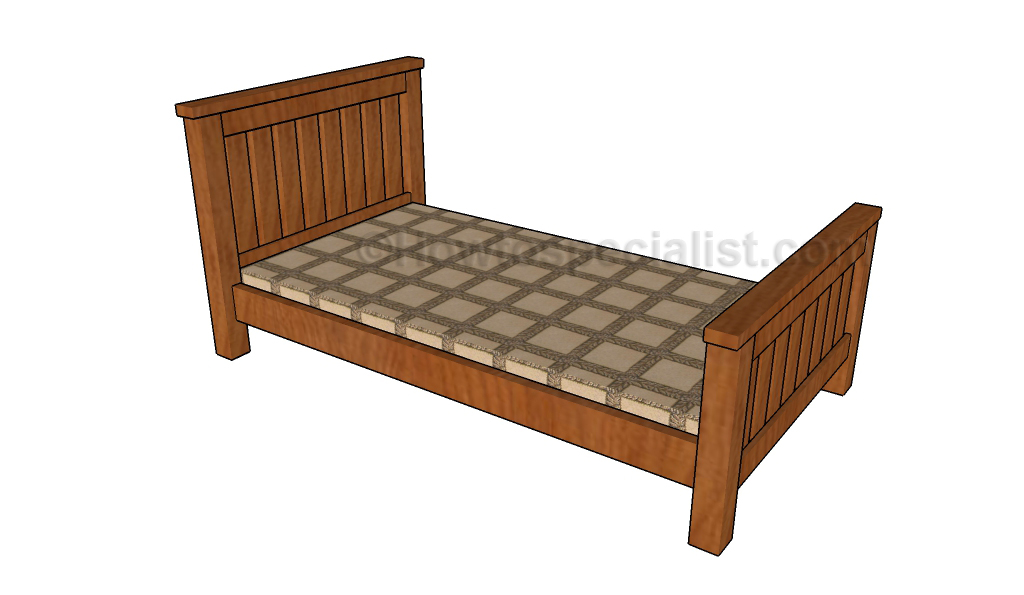 Single Bed Plans Howtospecialist How To Build Step By Step Diy Plans