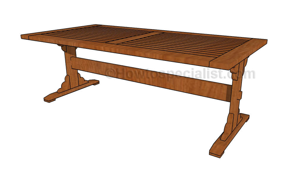 Trestle Dining Table Plans | AndyBrauer.com