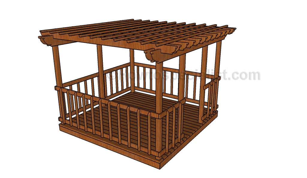 Simple Gazebo Plans Howtospecialist How To Build Step