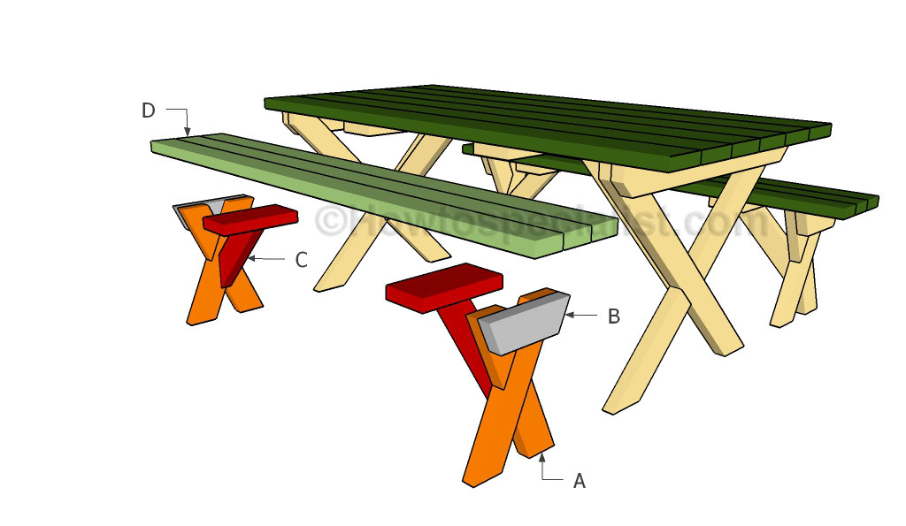 Building a x shaped bench