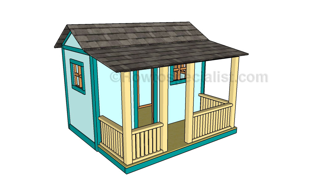 Free playhouse plans howtospecialist how to build for Free playhouse blueprints
