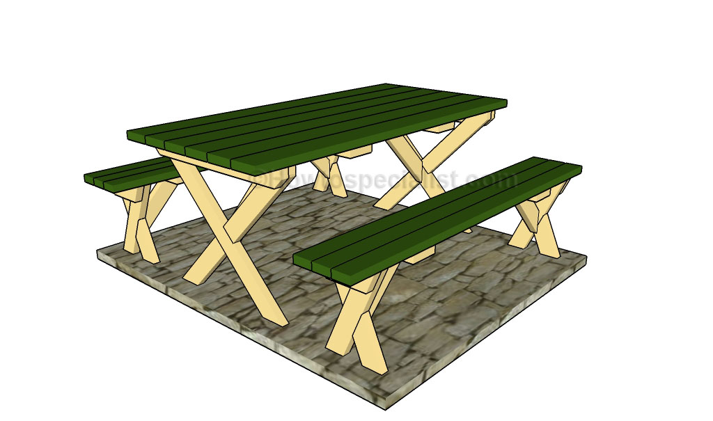 Marvelous How To Build A Picnic Table With Separate Benches Forskolin Free Trial Chair Design Images Forskolin Free Trialorg