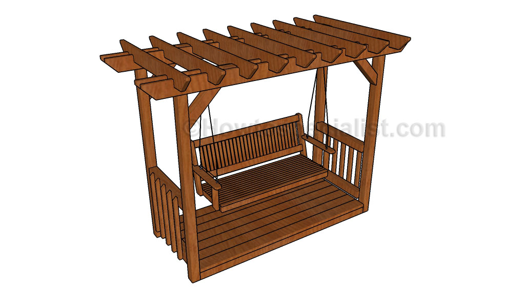 This step by step diy project is about pergola with swing plans. This  backyard project features detailed instructions regarding the construction  of a basic ... - Pergola With Swing Plans HowToSpecialist - How To Build, Step By