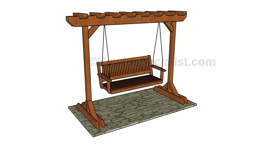 Permalink to plans for a wooden bench swing