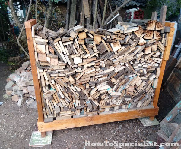 How to build a firewood rack | HowToSpecialist - How to ...