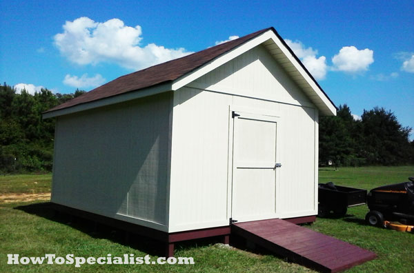 DIY 12x16 Shed | HowToSpecialist - How to Build, Step by Step DIY Plans