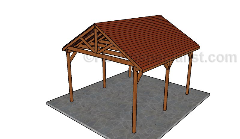 12x14 Picnic Shelter Plans