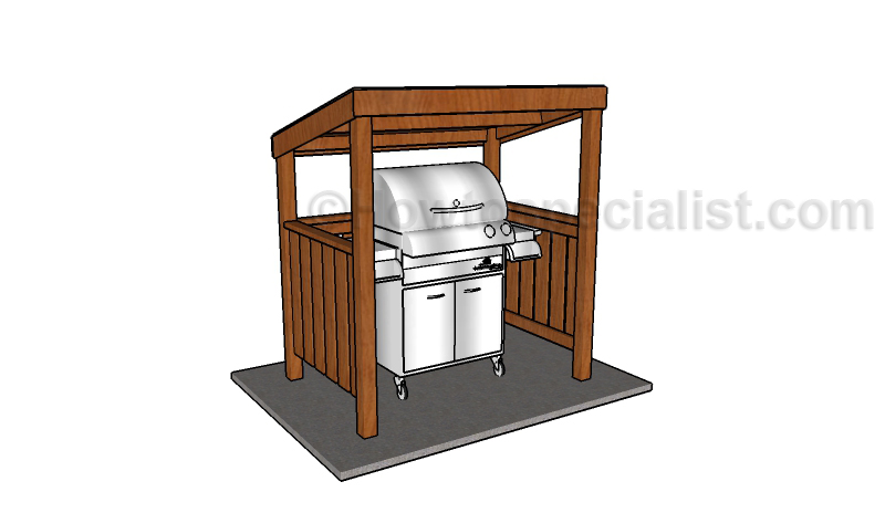Grill BBQ Shelter Plans