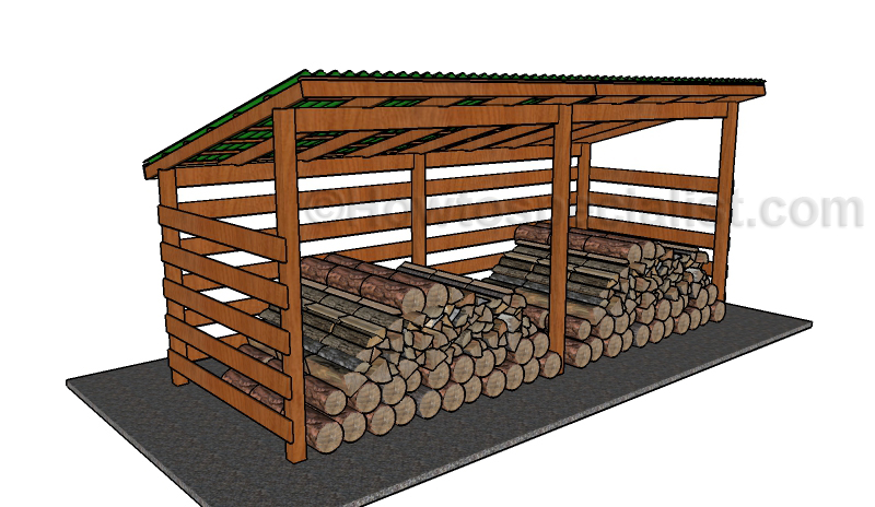 Simple firewood shed plans howtospecialist how to for Wood shed plans
