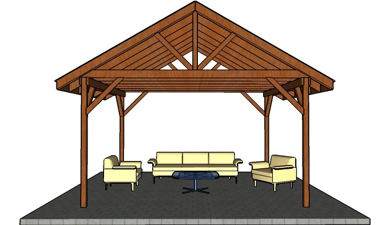Wooden picnic shelter plans
