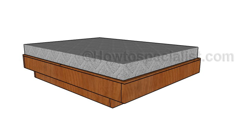 Marvelous Floating Queen Size Platform Bed Plans