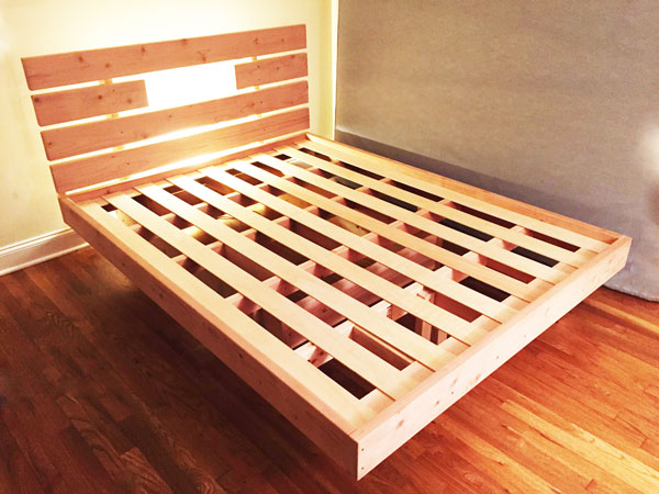 Inspirational DIY Floating Bed Frame