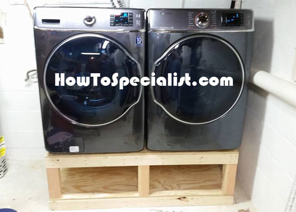 DIY Washer Dryer Piedestal