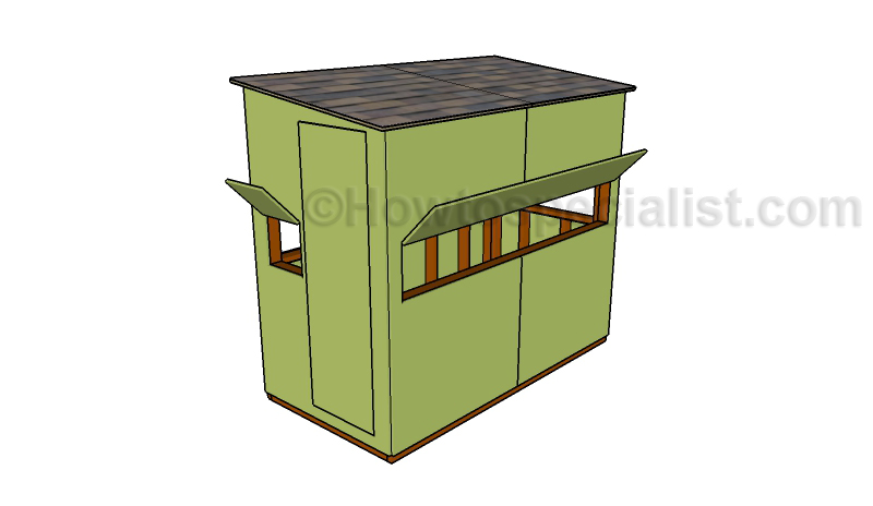 4x8 deer stand plans howtospecialist how to build