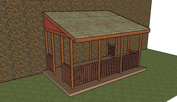 Attached gazebo plans howtospecialist how to build for Gazebo house plans