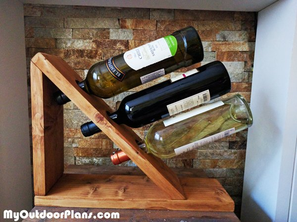Diy Wine Holder Howtospecialist How To Build Step By