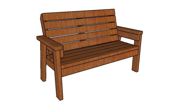 2x4 garden bench