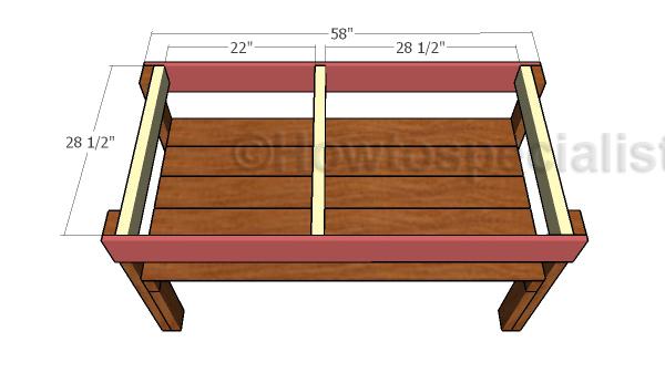Assembling the tabletop frame