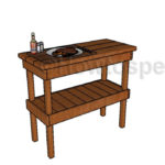 Wooden BBQ Table Plans