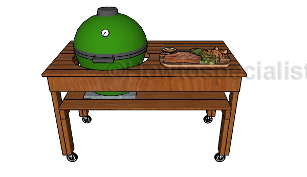 Big Green Egg XL Table Plans | HowToSpecialist - How to ...