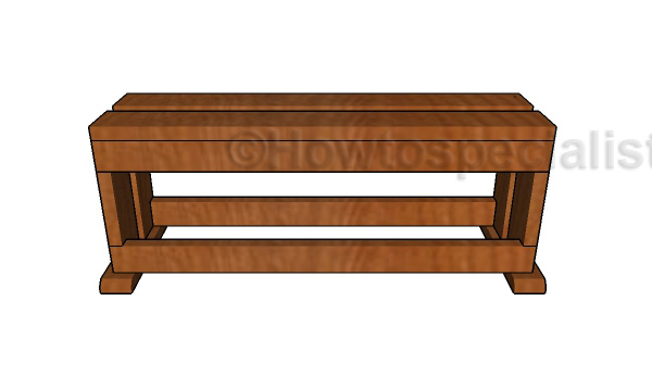 Build a wood saw bench
