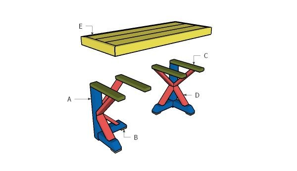 Building a trestle table
