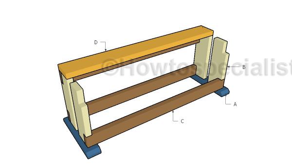 Building a wood saw bench