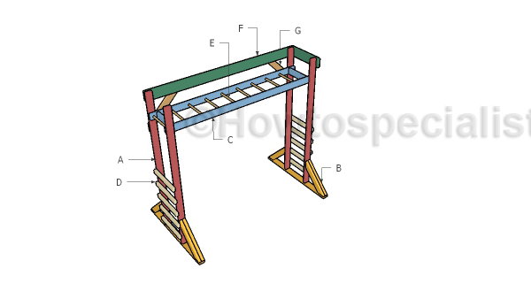 Monkey Bars Plans Howtospecialist How To Build Step By Step Diy