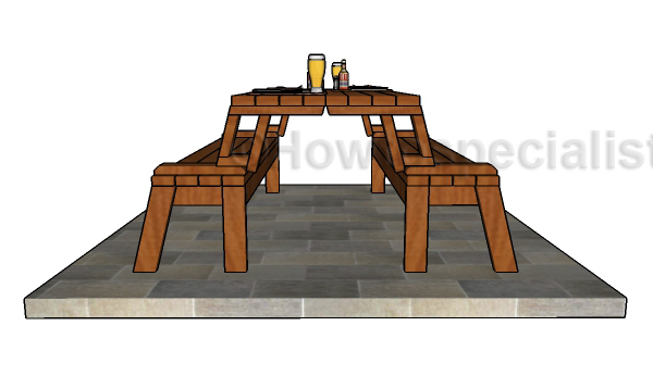 DIY Folding picnic table plans