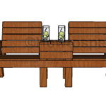 Large Outdoor Double Chair Bench Plans