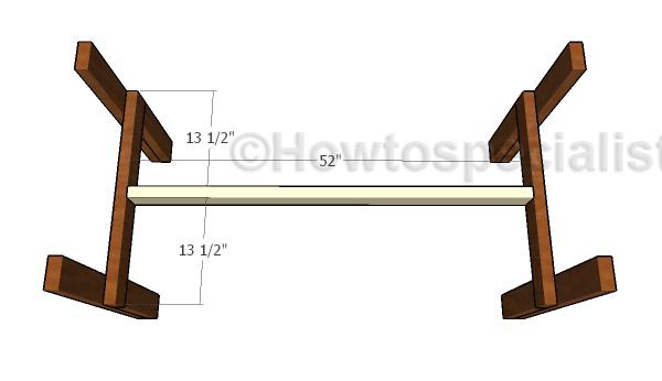 Fitting the bottom stretcher