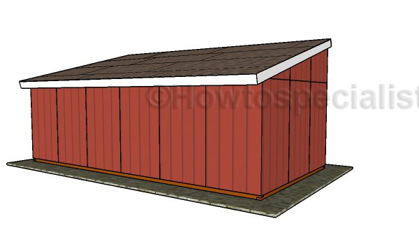 Loafing shed plans - Back view