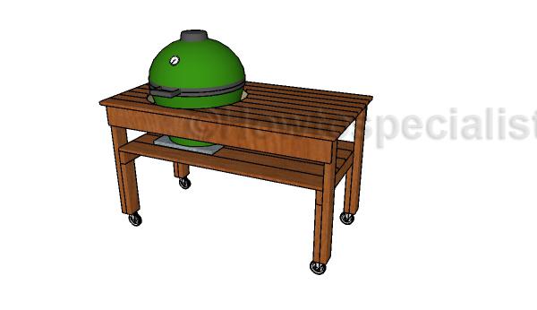 xl big green egg table plans HTS