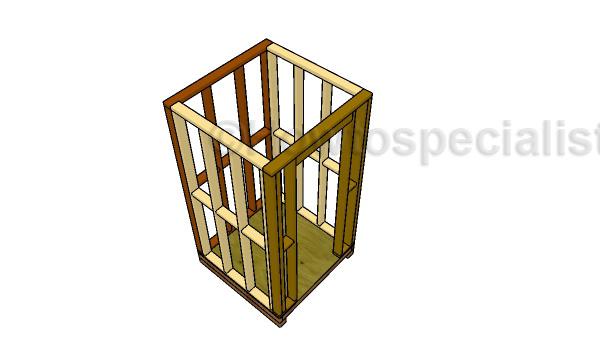 Assembling the smoker house frame