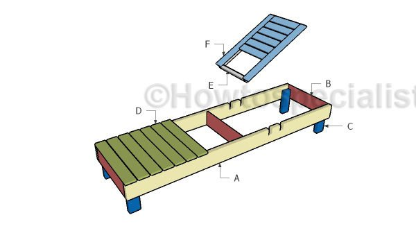 Beach chair plans howtospecialist how to build step for Chaise lounge construction